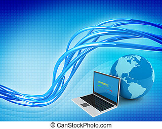 Internet globalization concept on abstract background
