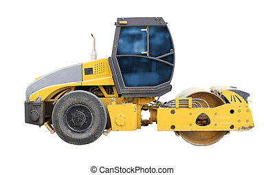 road roller - The image of road roller under the white...