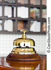 hotel bell  - A hotel bell on a table