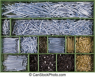 nails - Special Metal nails colection categorized in the box