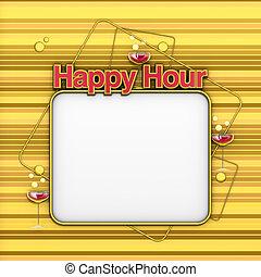 menu, hora, Ouro, Feliz