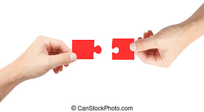 Two puzzle pieces - A solution showed conceptually
