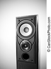 Black loudspeaker - Single black floor loudspeaker