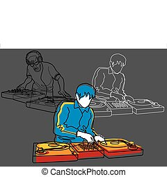 DJ, Deejay - DJ vector illustration, image is part of my...
