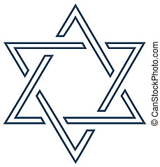 Jewish vector star design on white clip art