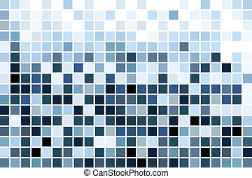 blue mosaic, wallpaper