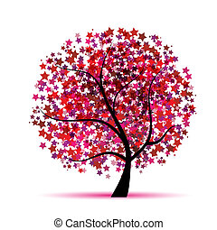 Starry tree fantasy for your design