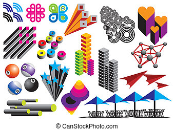 Vector Graphics - Vector graphics and objects set, image is...