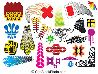 Vector Elements - Vector elements and graphics set, image is...