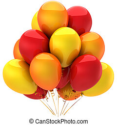 Colorful balloons. Hot emotions - Party balloons colorful...
