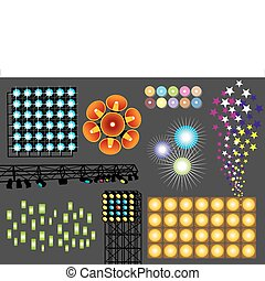 Light - Vector set of various lights, image is part of my...