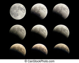 Moon eclipse phases - Different phases of the moon eclipse...