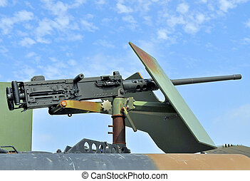 .50 Caliber Machinegun - The M2 50 cal. Machinegun on a...