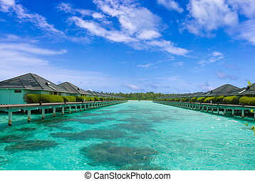 Tropical Waters - Buildings at a luxurious waterfront...