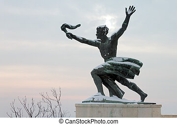 Statue in Budapest