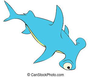 shark, fish, fishing, sea, predator, raptor, ocean