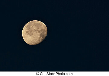 bright new moon in september - full moon at harvest time in...