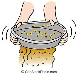 Panning for Gold - An image of a person panning for gold.