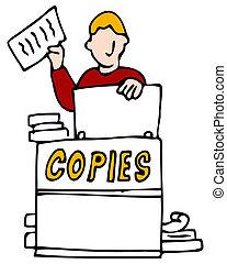 Making Making Copies - An image of a man making copies.