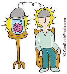 Brain Transplant - An image of a man getting a brain...