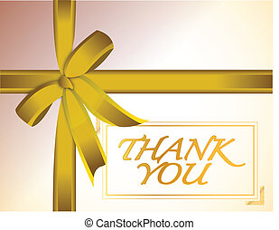 thank you golden car with ribbon design