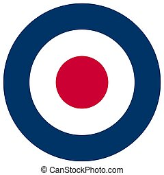 UK RAF roundel flag - United Kingdom Royal Air Force roundel...