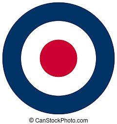 UK RAF roundel flag - United Kingdom Royal Air Force roundel...