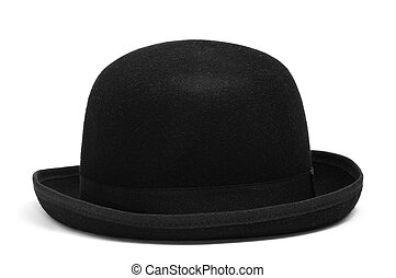 bowler hat - a bowler hat isolated on a white background