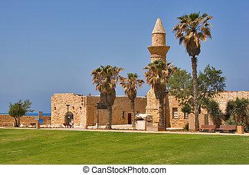 Ancient Caesarea. - National park Caesarea on coast of...