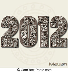 Image of the mayan months in the year 2012.
