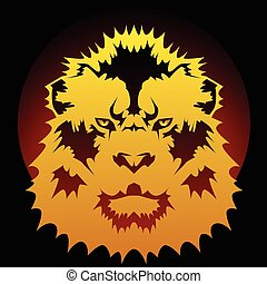 Lion graphic - Stylized lion head graphic suitable for...