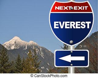 Everest road sign