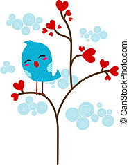 Loveless Lovebird - Illustration of a Lone Lovebird Perched...