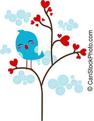 Loveless Lovebird - Illustration of a Lone Lovebird Perched...