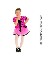Sassy Child Tap Dancer - A Sassy Girl Tap Dancer in Pink...