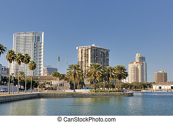 St. Petersburg Florida - Coast and skyline of St....
