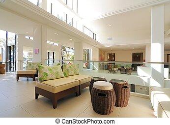 Hotel Lobby - Interior hotel lobby