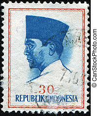 Sukarno - INDONESIA - CIRCA 1965: A stamp printed in...