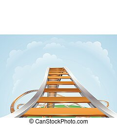 Roller coaster - Illustration of a roller coaster from the...