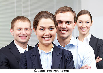 Corporative businesspeople - Portrait of a cheerful...