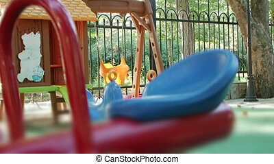 Playground - Childrens playground with beautiful and...