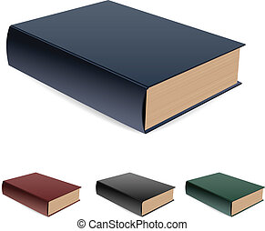 Book lying a pile. Vector illustration on white