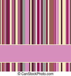 Purple striped background with banner, variable width...