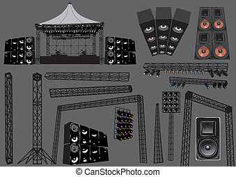 Concert Stage - Music stage elements, image is part is part...