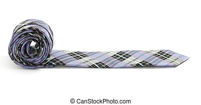 Tie isolated on white bg