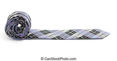 Tie isolated on white bg