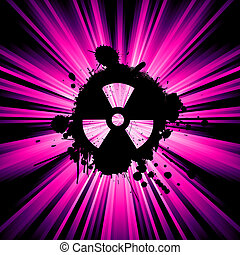 Nuclear hazard background - background with exploding rays...