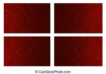 Red fibre optic background.