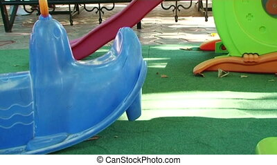 Childrens Playground - Childrens playground with beautiful...