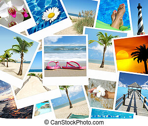 Paradise - background vacation photo collage tropical